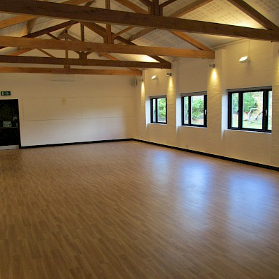 Main hall with new floor